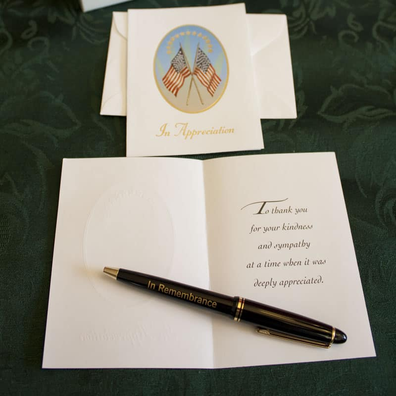 Military And Service Memorial Guest Book Kit With Cards And