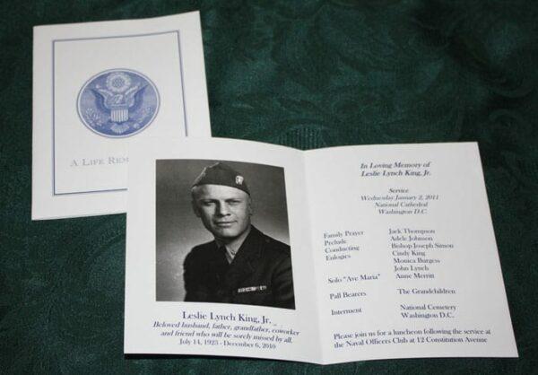 Military Folders, Printable Programs with US Seal Option