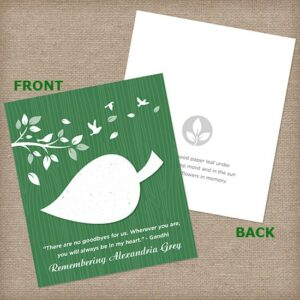 Dark Green Leaf Wildflower Cards