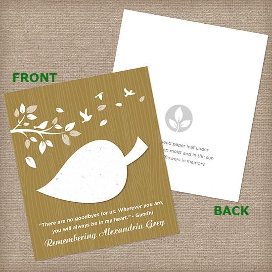 Latte Leaf Wildflower Cards