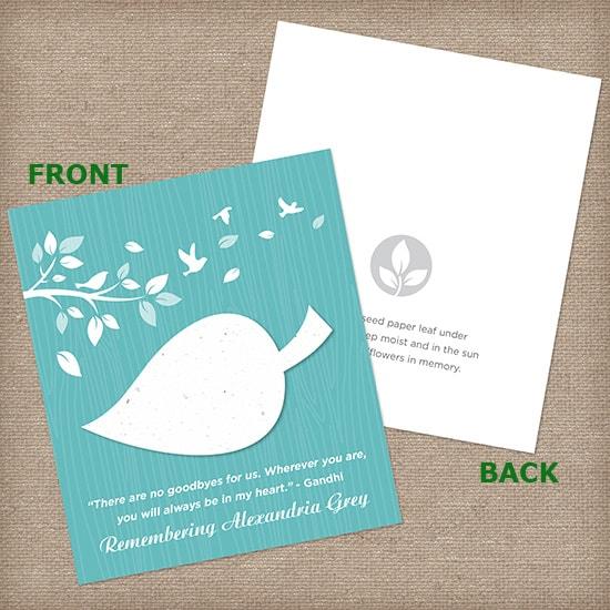 Light Blue Leaf Wildflower Cards