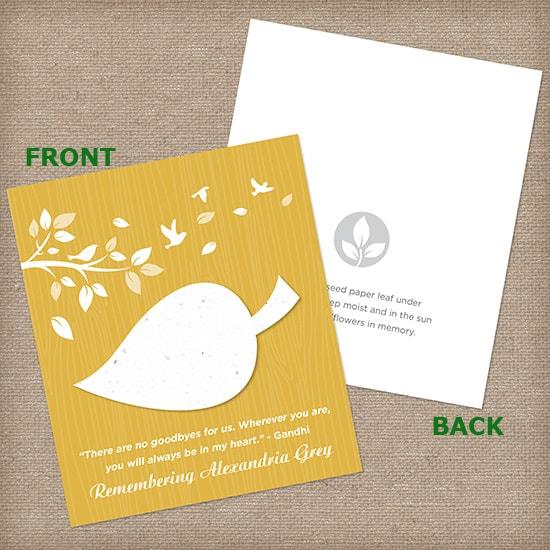 Mustard Yellow Leaf Wildflower Cards