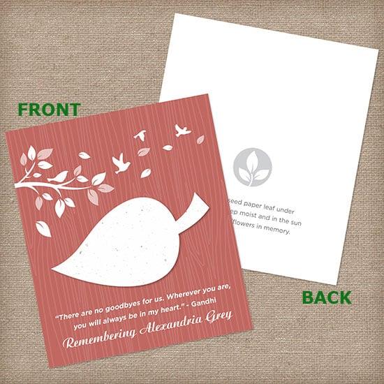 Rose Leaf Wildflower Cards