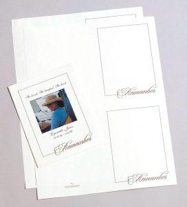 Life Celebration Memorial Folders