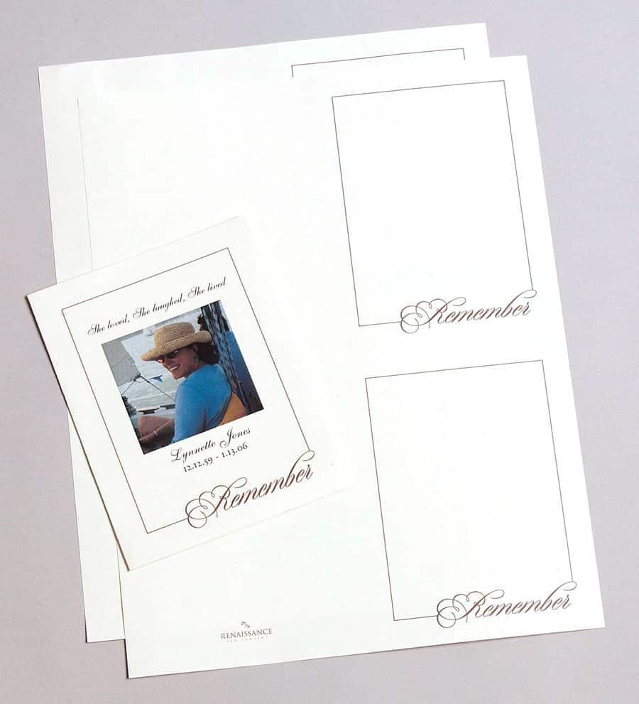 life celebration memorial folders printable funeral programs