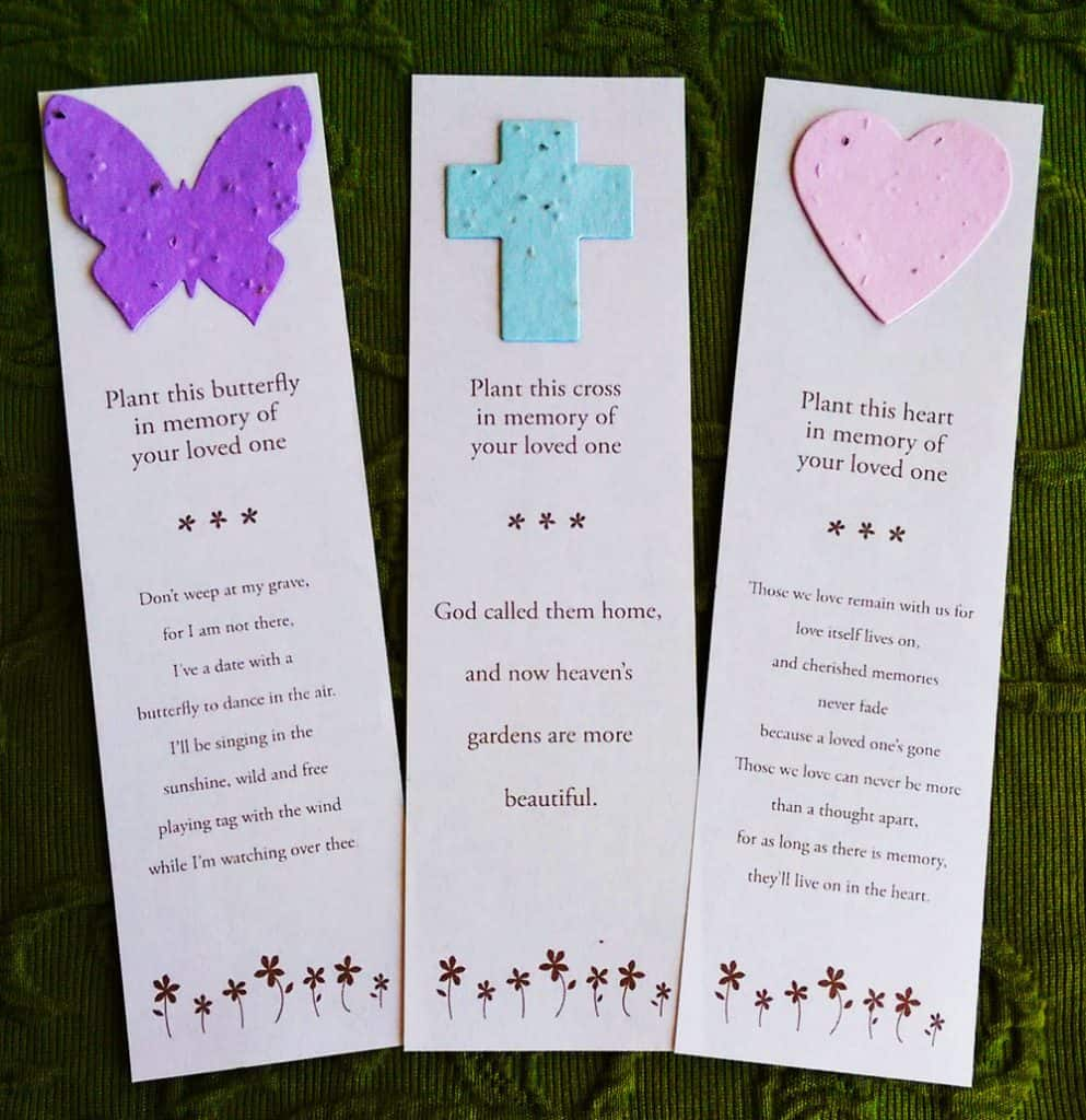 Hospice memorial service ideas Sympathy favors, tokens of remembrance