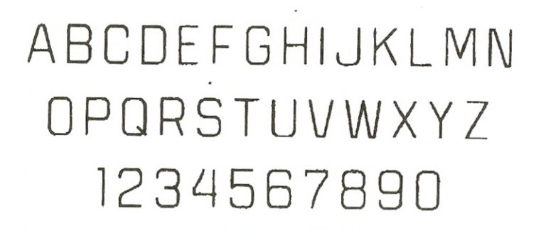 Block font for engraved pendants