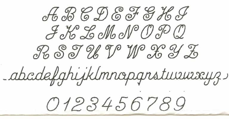 Script font for engraved pendants