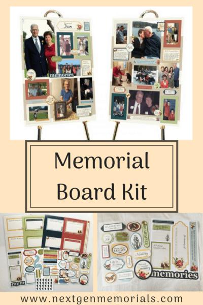 Memorial board kit