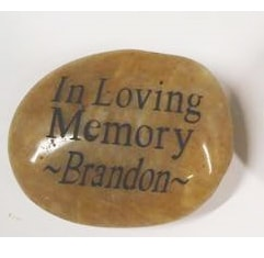 Memory Stones personalized with 1 custom side for Funeral