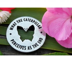 Butterfly Memorial Pocket Ring Coin