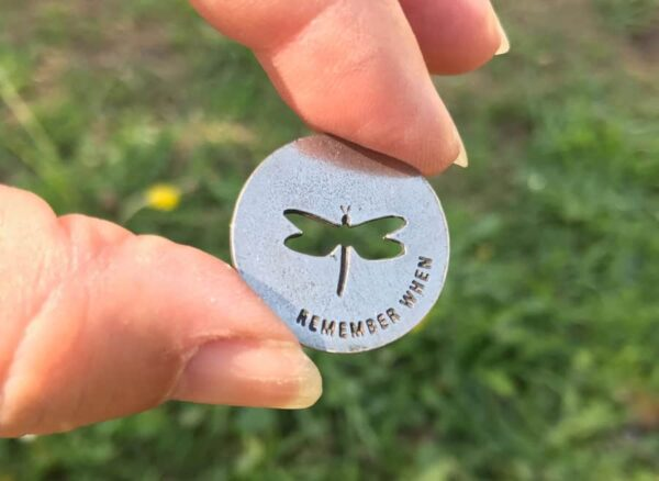 Dragonfly Memorial Blessing Ring Coin