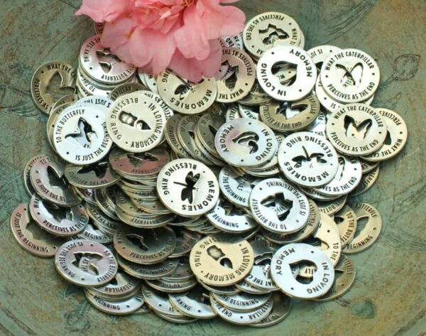 Assorted Memory Rings or Memorial Tokens