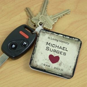 Personalized Memorial Key Chain